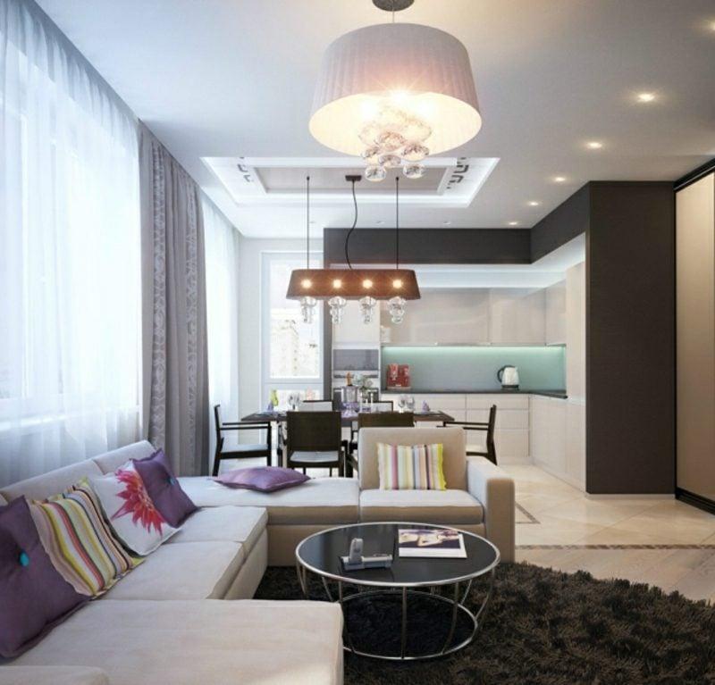 Wohnküche moderne Einrichtung bequeme Sitzecke