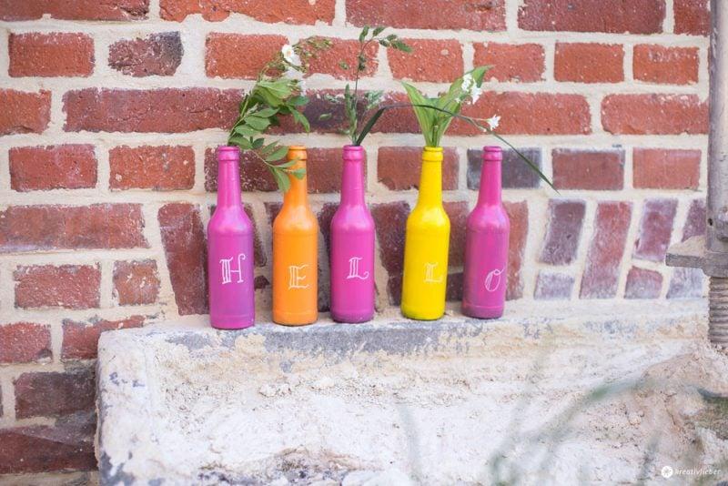 Vasen aus Flaschen selber machen