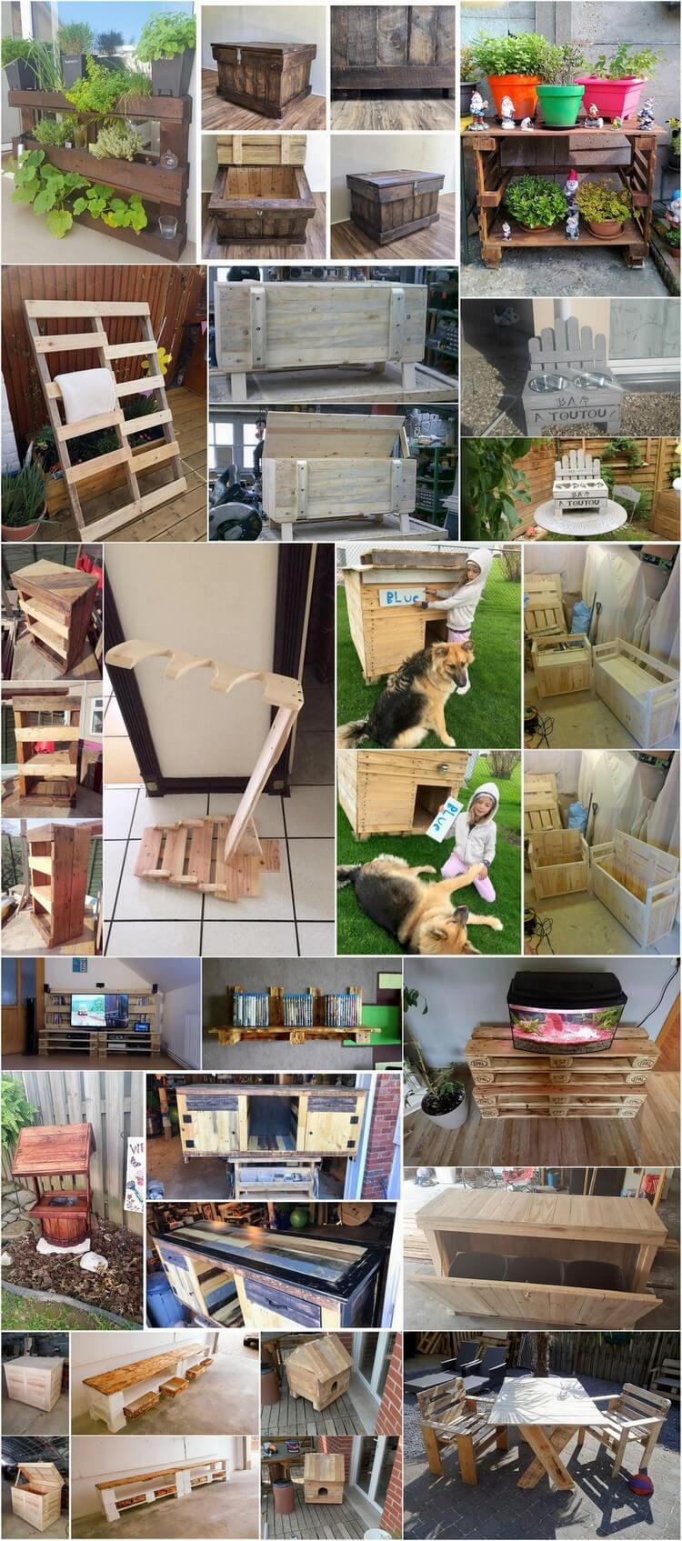 Gartenmöbel selber bauen aus Holz und aus Europaletten