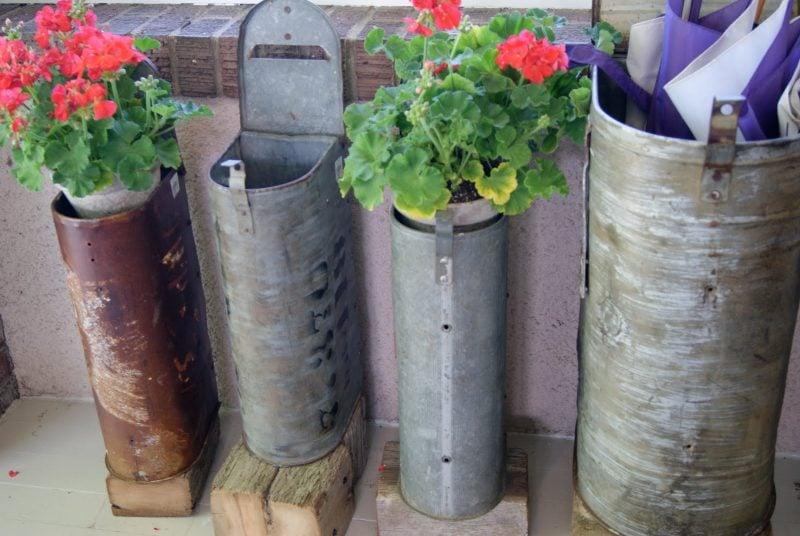 Blumentopf aus Briefkasten