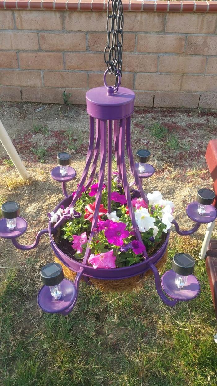 DIY Deko - Lampenschirm mit Blumen