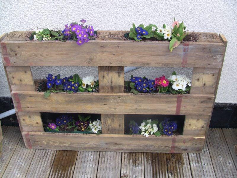 DIY Deko für den Garten - Blumentopf Paletten