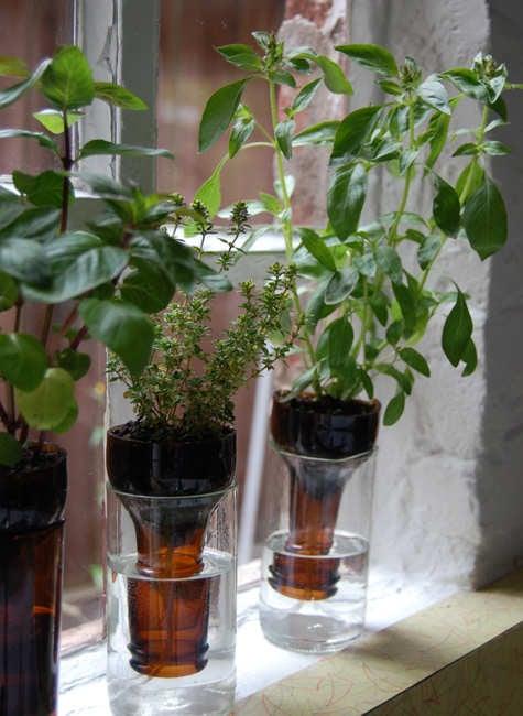 DIY Vasen aus Plastikflaschen