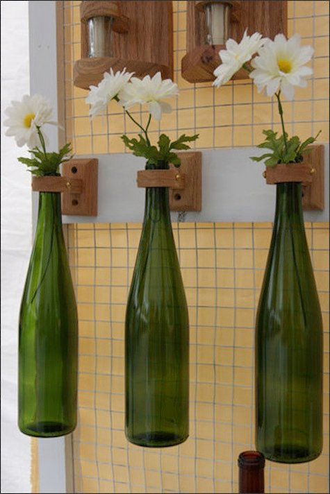 DIY Deko Vase aus Flaschen