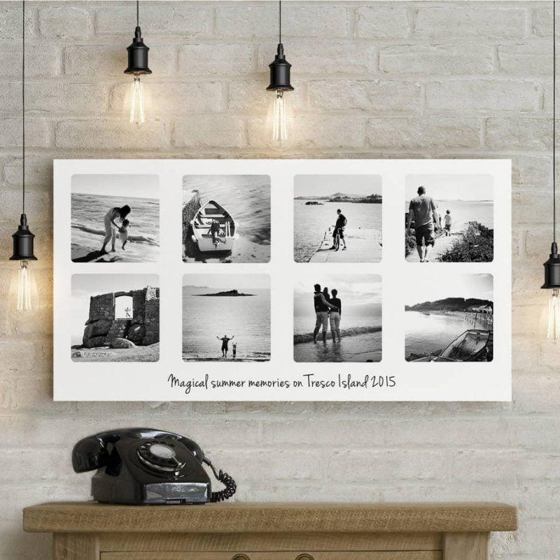 Collage auf Leinwand - beschränken Sie Ihre Erinnerungen nicht nur auf ein einziges Foto auf Leinwand