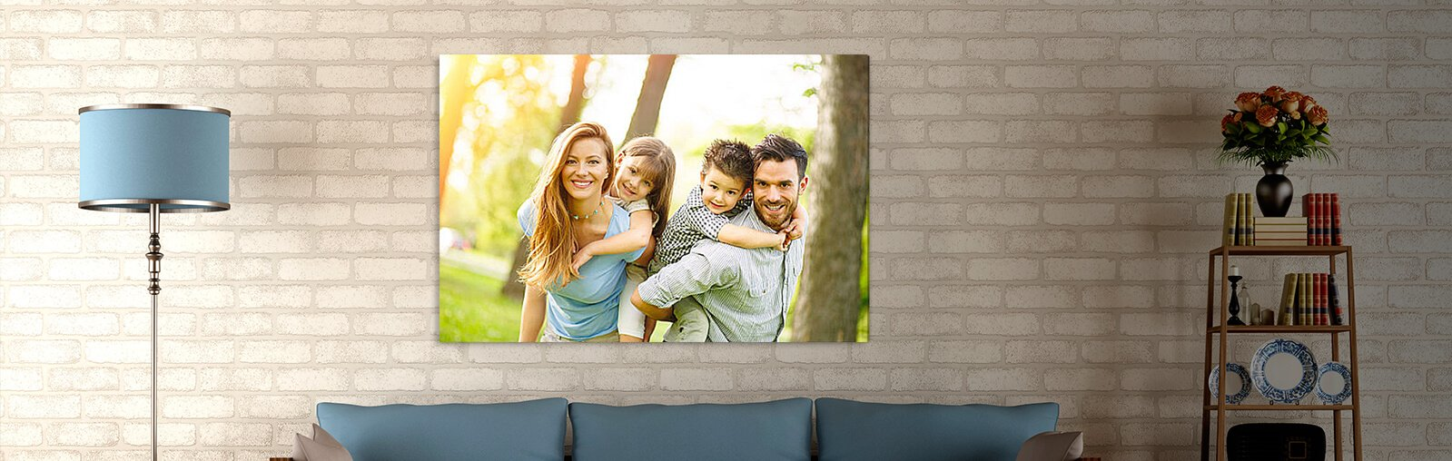 eigenes foto auf leinwand erinnerungen in szene setzen deko feiern zenideen. Black Bedroom Furniture Sets. Home Design Ideas