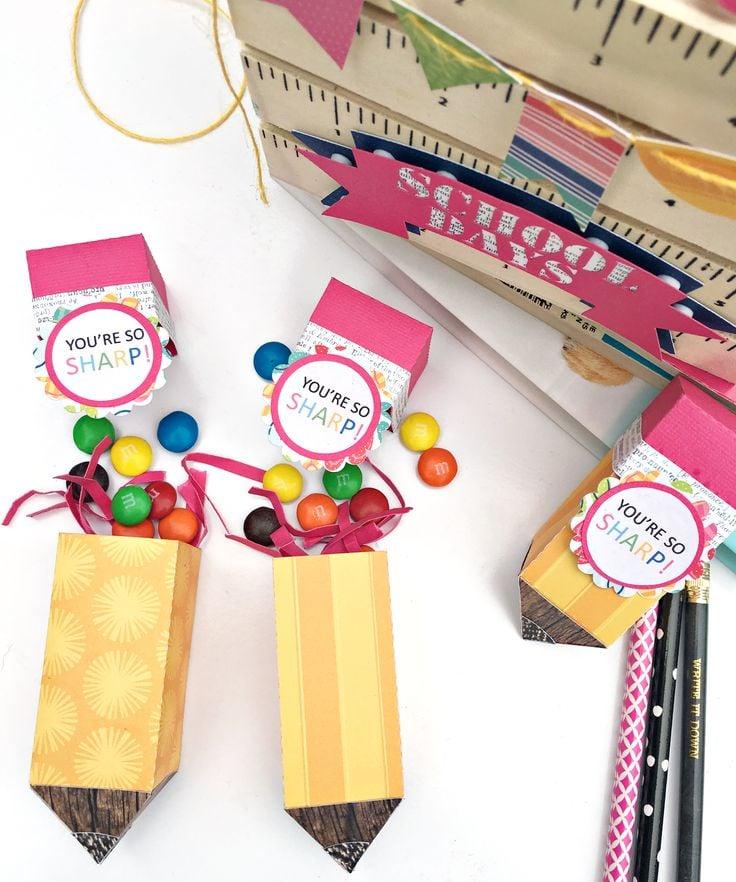 Noch eine kreative Idee für Bleistiften voll mit Süßigkeiten