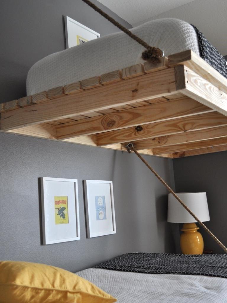 Hochbett selber bauen Bettgestell 180x200