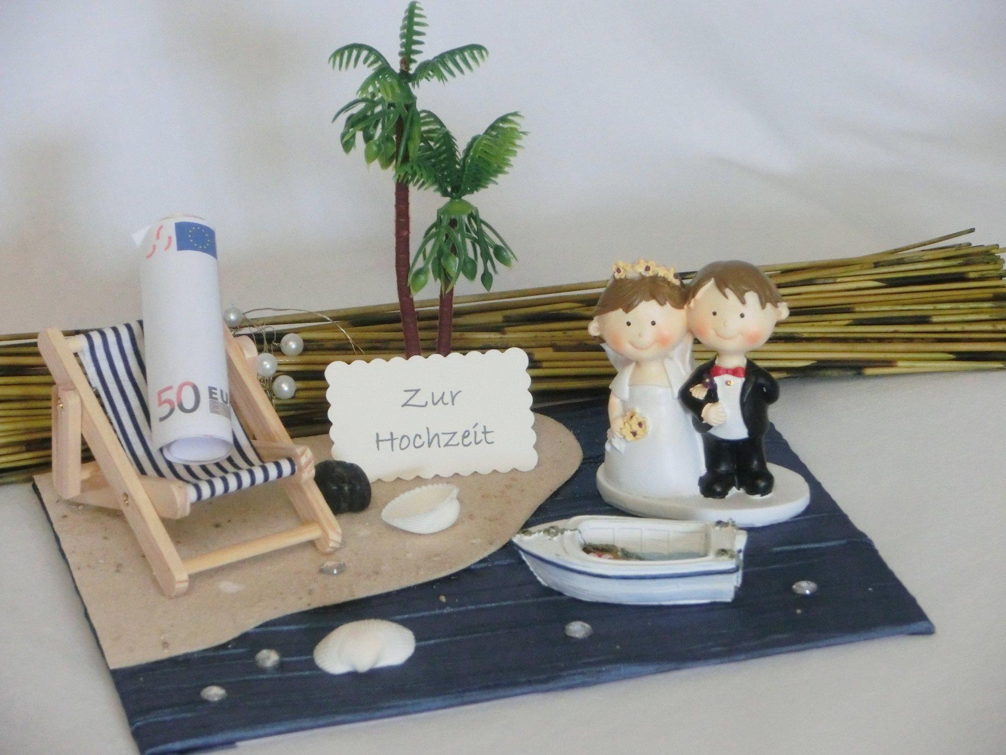 Hochzeitsgeschenk Geld kreativ verpacken