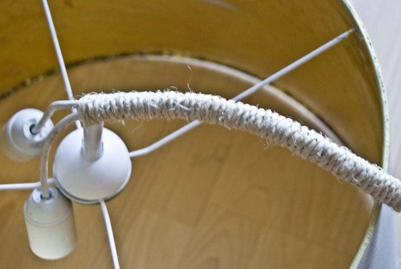 Ikea Kronleuchter Anleitung ~ Kronleuchter selber bauen aus ikea lampenshirm diy anleitung