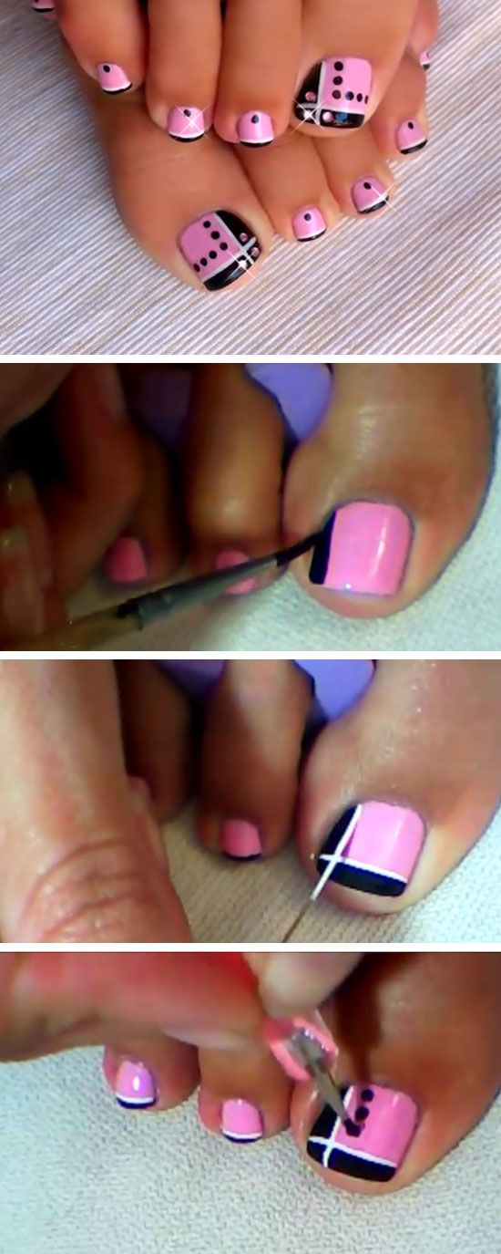 Fußnägel lackieren Anleitung