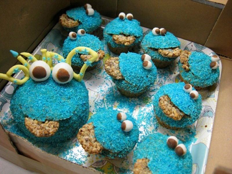 Muffins für Kinder Krümelmonster