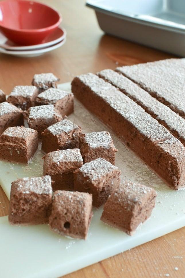 Marshmallow mit Schokolade