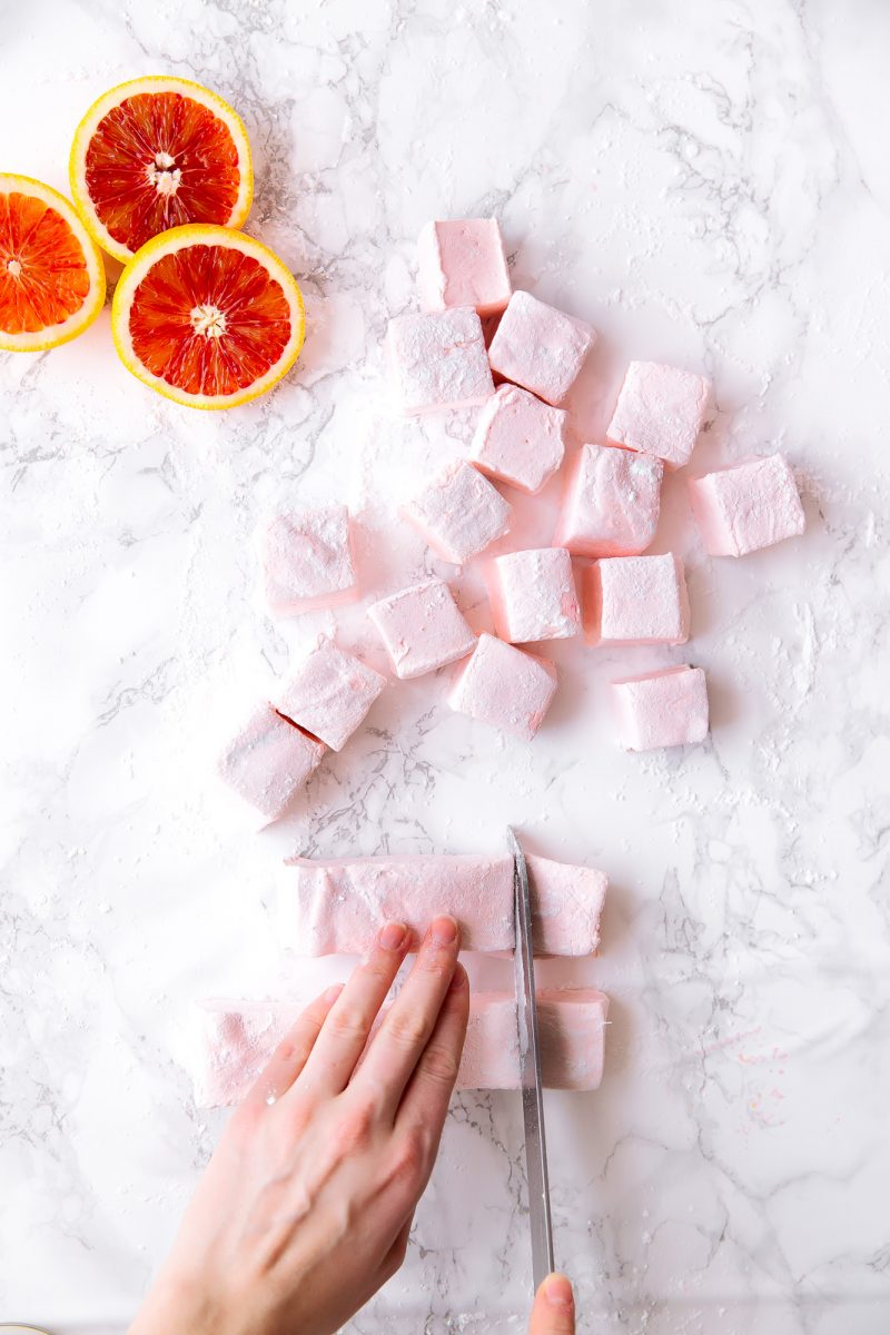 Marshmallow selber machen mit Grapefruit