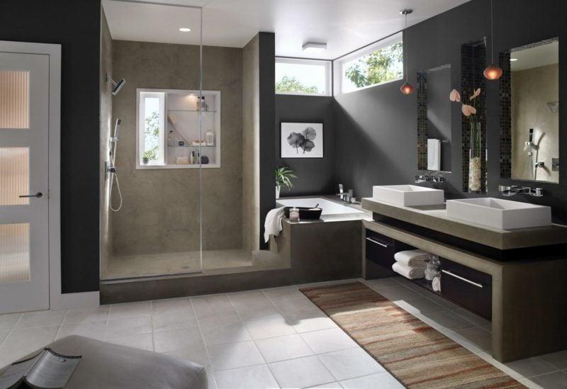 Trends ideen f r moderne b der badezimmer zenideen for Geflieste badezimmer