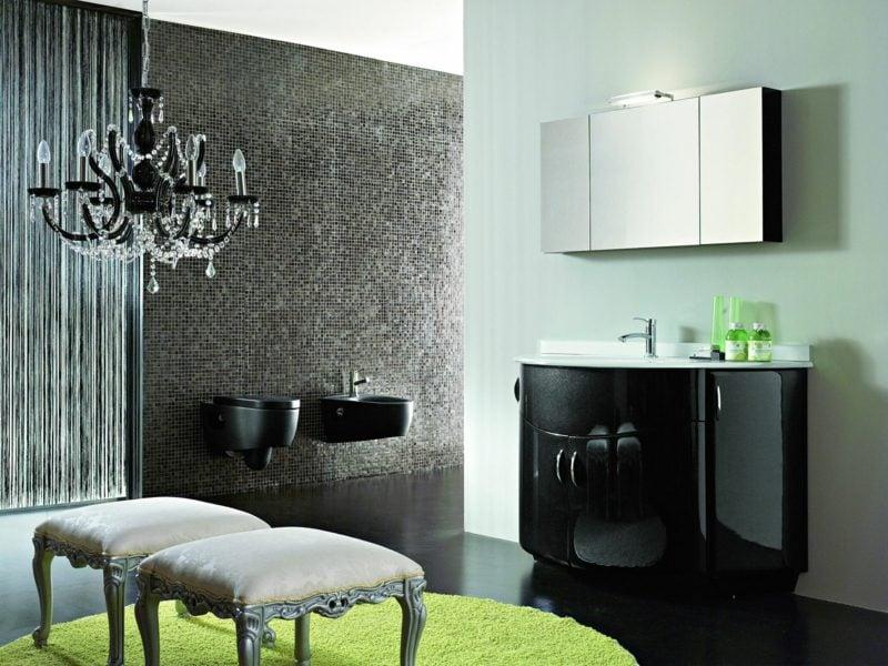 luxus badezimmer schwarz unterschrank