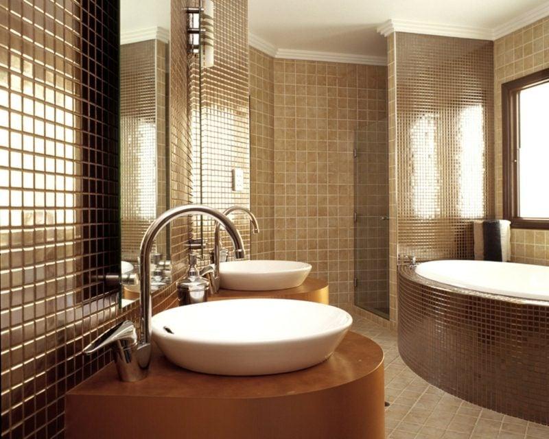 badezimmer modern mosaikfliesen