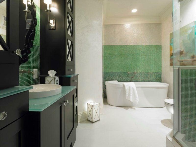 einrichtung modernes bad badewanne antrazit möbel set