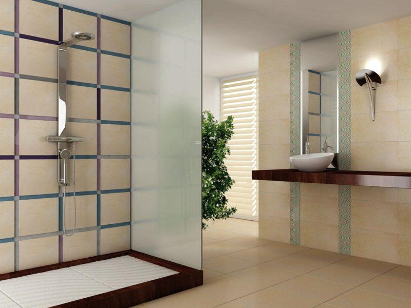 moderne begehbare dusche glasswand bäder