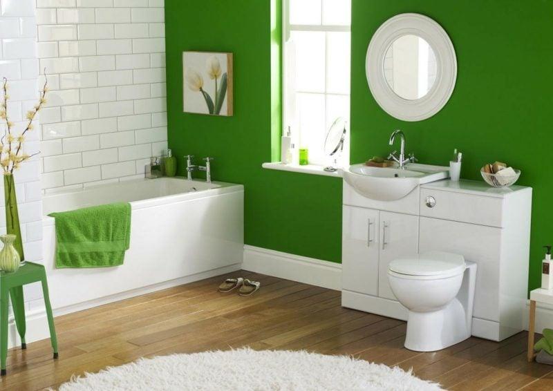 bad gestaltung grüne wände