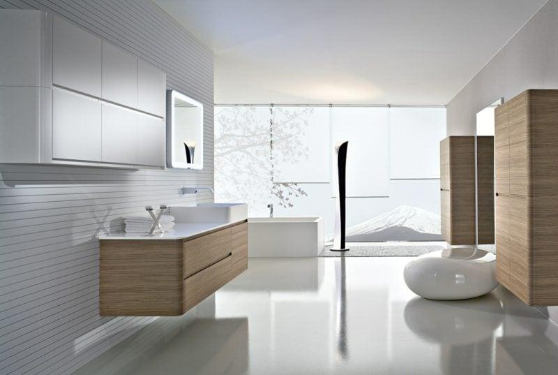 Moderne Bder Gestaltung Beige Braun Holz Schrank With Moderne Buder Mit Holz
