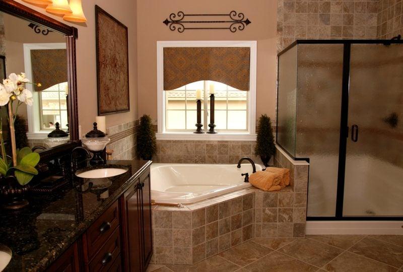modernes badezimmer gestalten rustikal