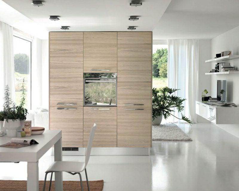 Küche Ideen offen vom Wohnzimmer getrennt
