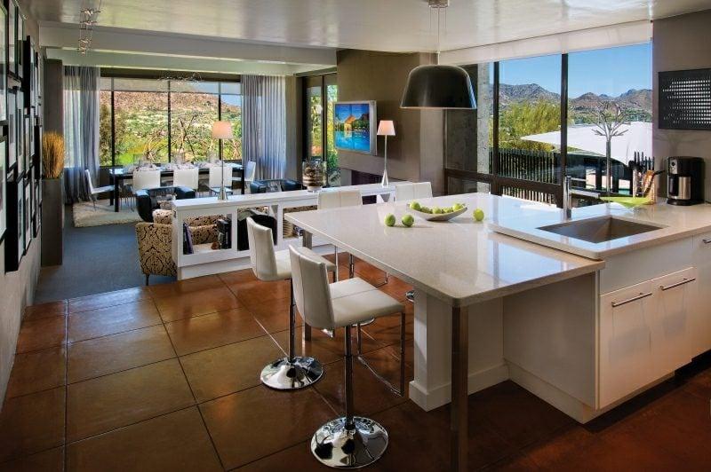 Küche mit Theke offen moderne Einrichtung