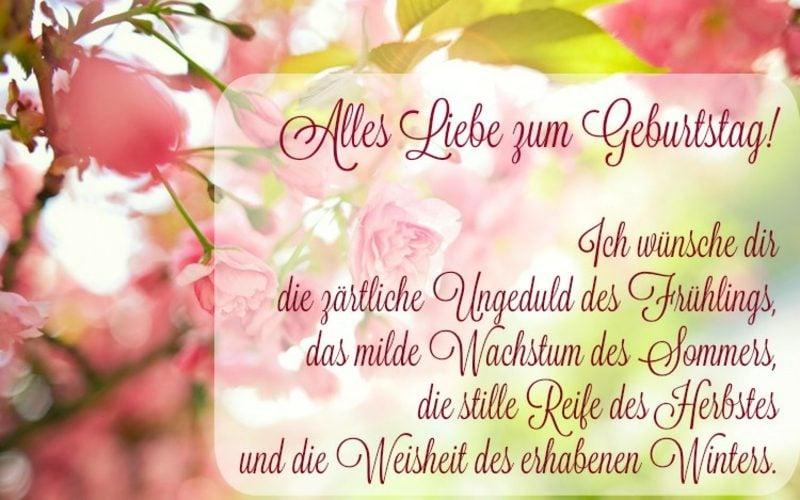 Geburtstagsgrüße English und Deutsch