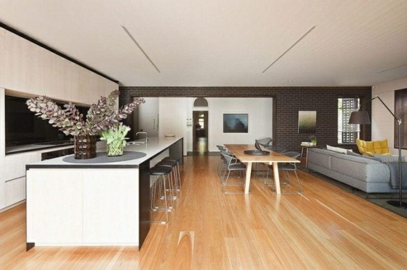 offene Küche Wohnzimmer abtrennen