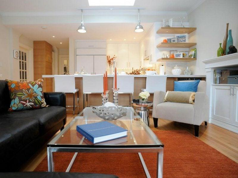 offene wohnkuche mit wohnzimmer. Black Bedroom Furniture Sets. Home Design Ideas