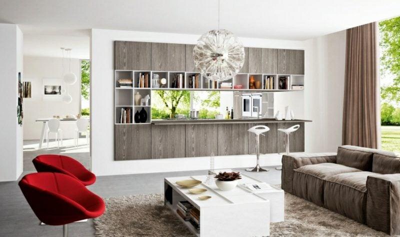 raumteiler k che wohnzimmer. Black Bedroom Furniture Sets. Home Design Ideas