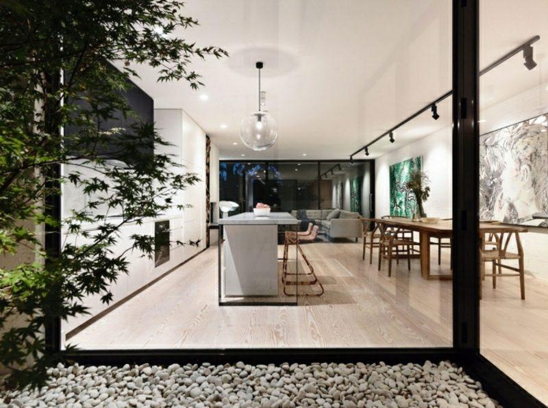 Kochen ohne Herd offene Küche moderner Look