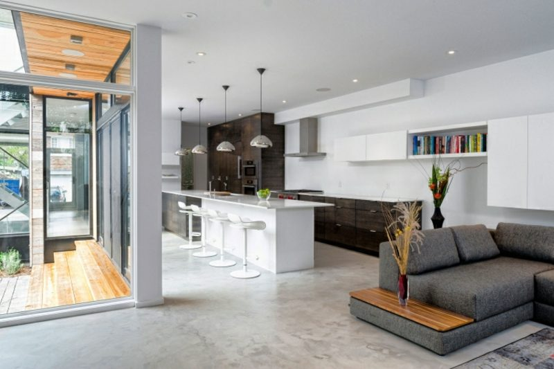 Wohnküche Ideen modern minimalistisch