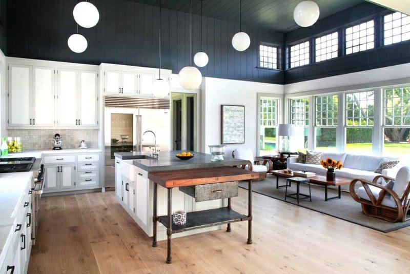 Wohnküche einrichten Landhausstil