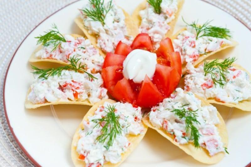 einfache vegetarische Gerichte Finger Food