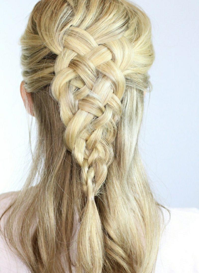 Frisuren lange Haare selber machen Octoberfest