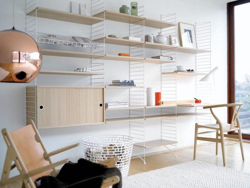 Sie brauchen immer mehr Platz in Ihrem Arbeitszimmer? Zur Hilfe kommt ein Regal aus Holz und Metall!
