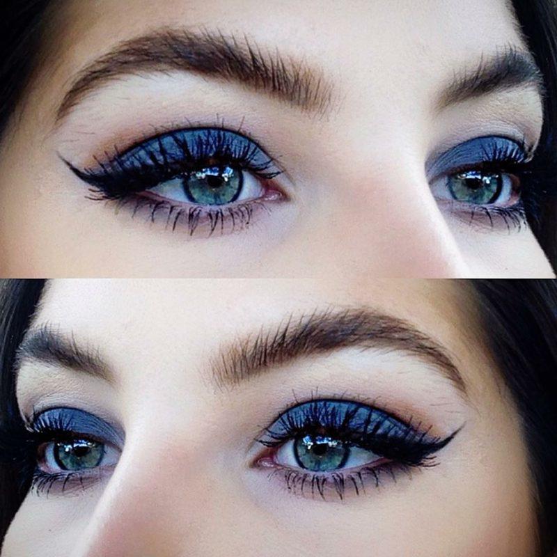blaue Augen schminken effektvolle Ideen