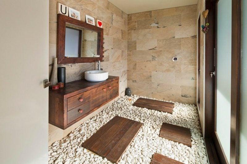 moderne Badezimmer Gestaltungsideen Naturmaterialien