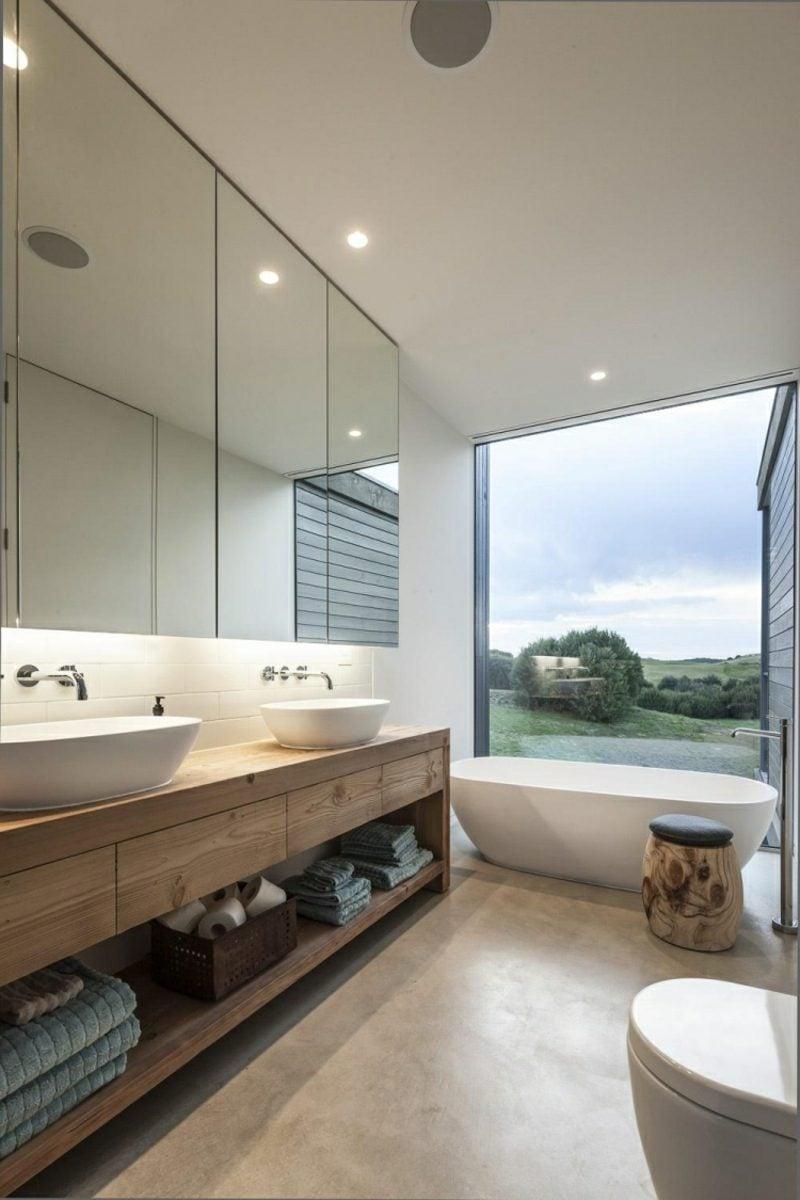 Moderne Badezimmer Gestaltungstipps Akzentwand
