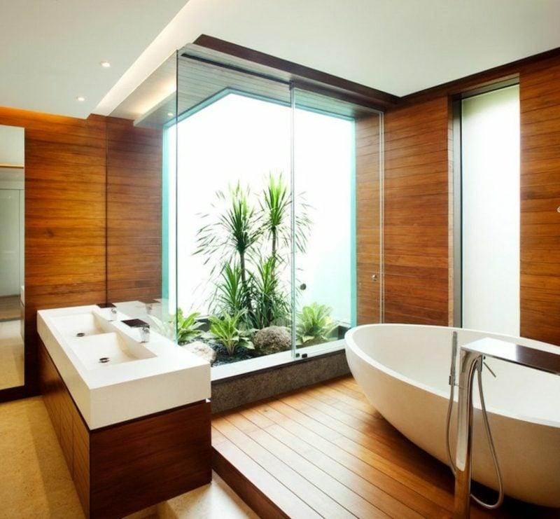 moderne Badezimmer Gestaltung Holz