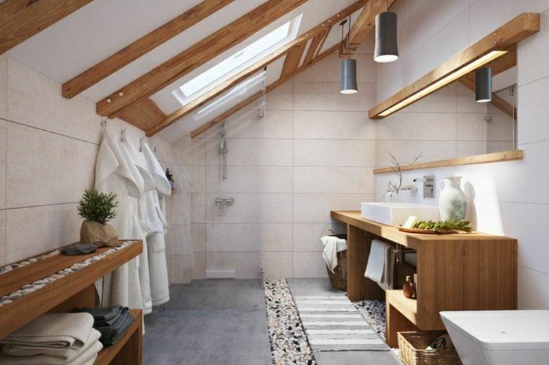 Fliesen Badezimmer beige moderner Look