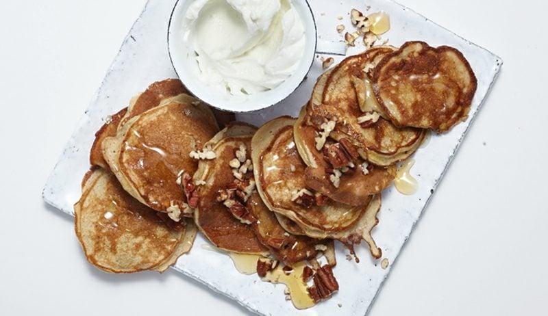 gesundes Frühstück zum Abnehmen low carb Pfannkuchen