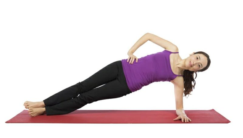 Bauchfett reduzieren Übungen Seitstütz