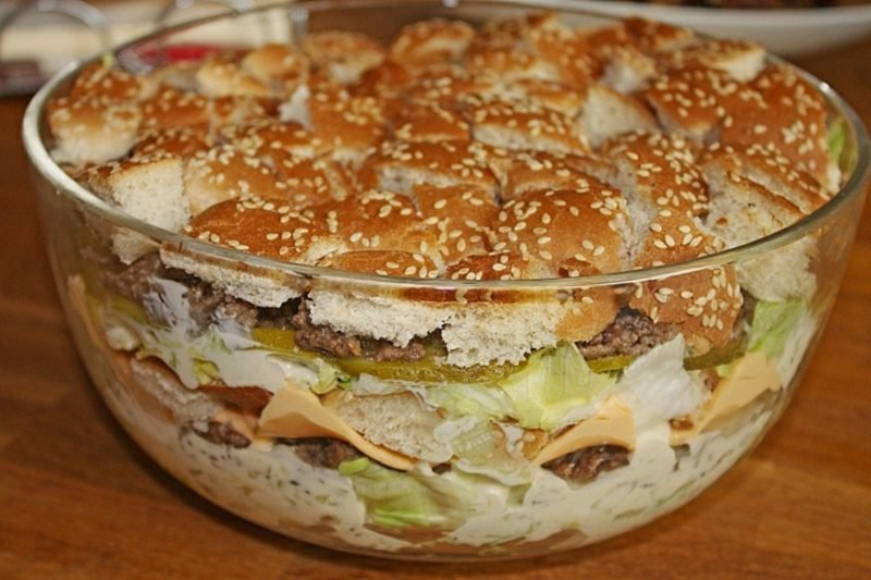 Big Mac Salat selber zubereiten