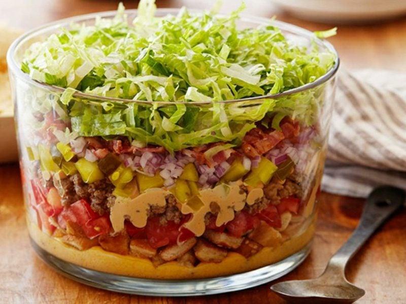 Big Mac leckerer Schichtsalat