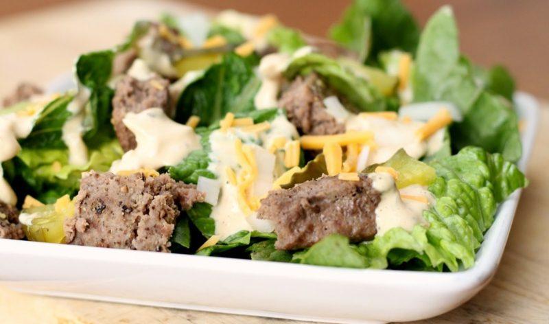 Big Mac Salat leckere Ideen Party Food
