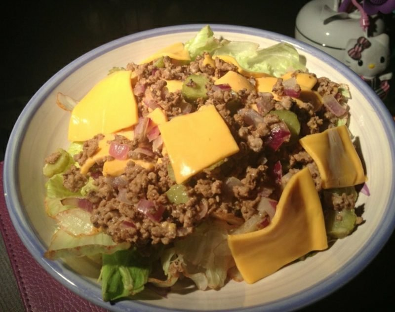 low carb Salat Big Mac Rezept