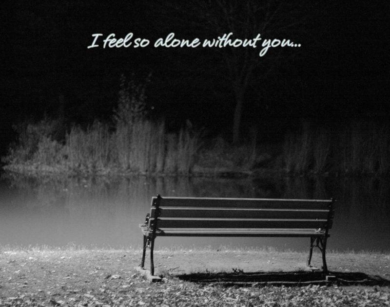 traurige Bilder Liebe Einsamkeit